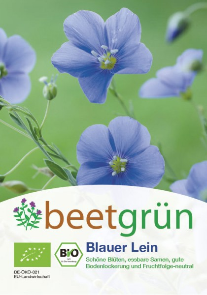 beetgrün BIO-Gründünger Blauer Lein