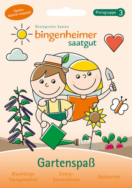 Kinder Gartenspaß: Bohne, Sonnenblume, Radieschen