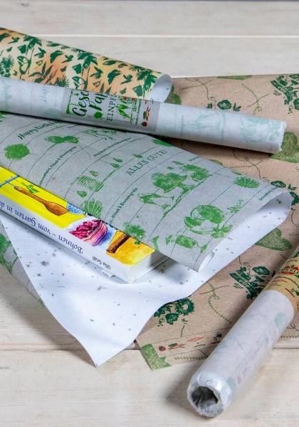 Geschenkpapier aus Saatpapier - Glückwünsche