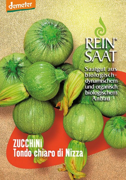Zucchini Tondo chiaro die Nizza