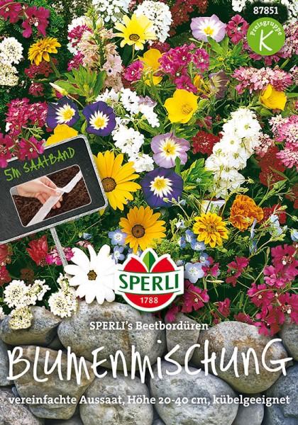 Blumenmischung Beeteinfassung Bordüren. Saatband