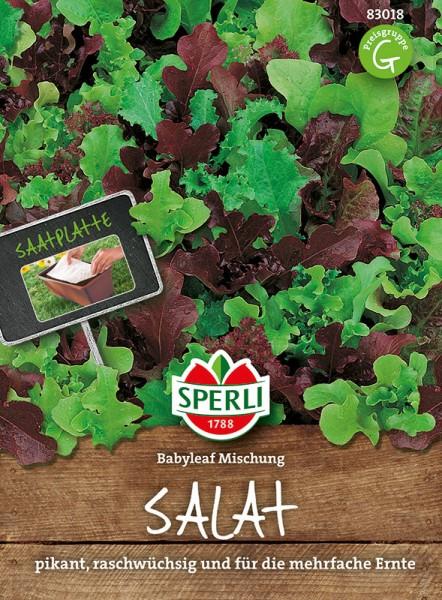 Salat Babyleaf Mischung, 1 Saatplatte