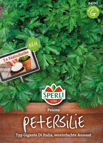 Petersilie Peione, 5 Saatscheiben