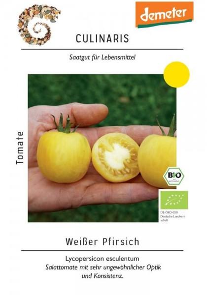Salattomate Weißer Pfirsich