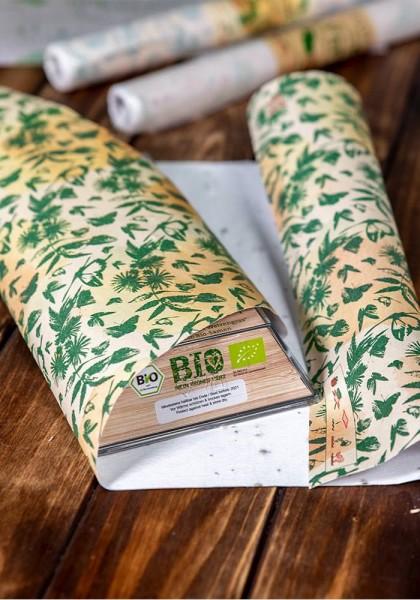 Geschenkpapier aus Saatpapier - Schmetterlinge