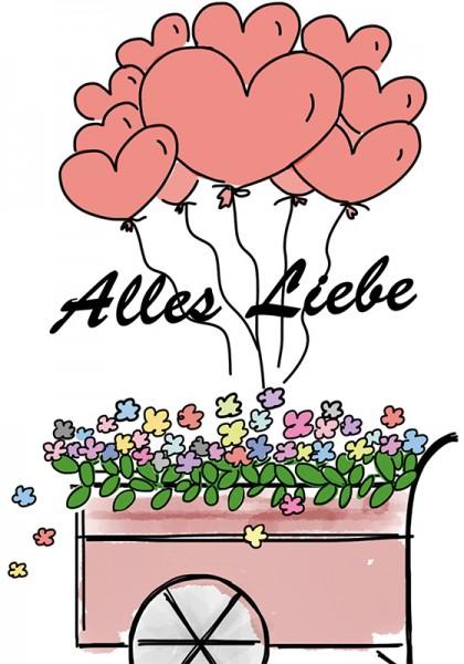 "Blumenmischung ""Alles Liebe"""