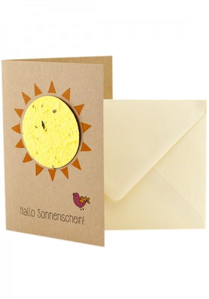 """Wildblumen-Grußkarte """"Hallo Sonnenschein"""""""