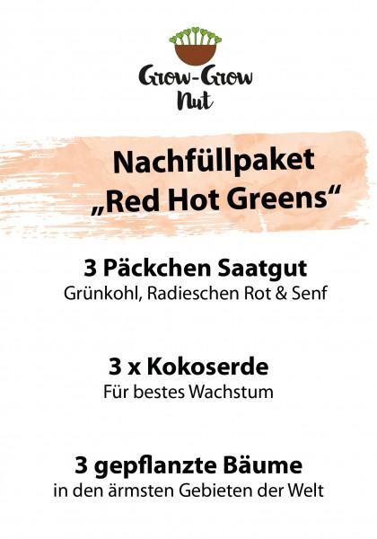 "Grow-Grow Nut Nachfüllpaket ""Red Hot Greens"""