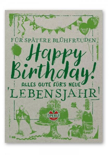 "Saatgut Postkarte ""Happy Birthday"""