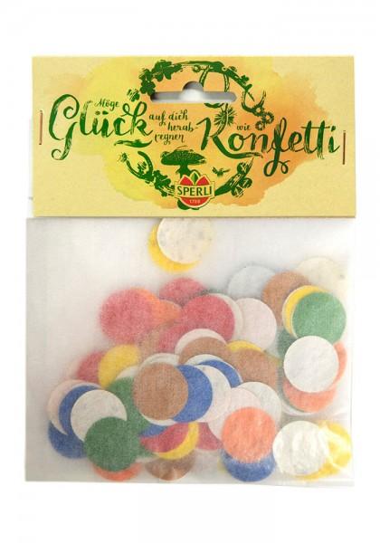 Konfetti aus Saatpapier - Glück