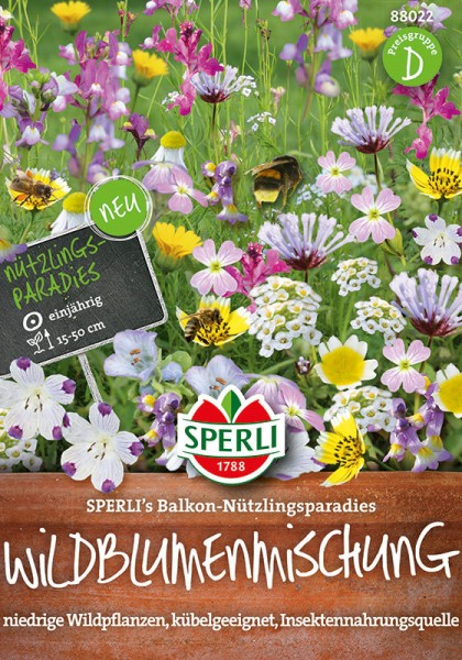 Wildblumenmischung SPERLI's Balkon-Nützlingsparadies