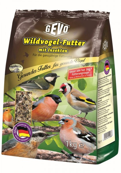 Wildvogel-Futter mit Insekten