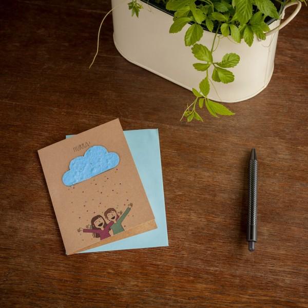 """Wildblumen-Grußkarte """"Hurra"""""""