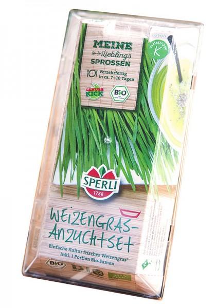 Bio-Keimsprossen Weizengras Starter-Set