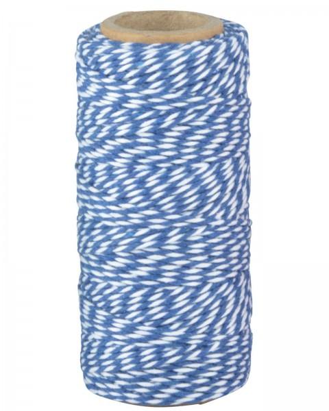 Gestreifte Kordel blau-weiß oder grün-weiß