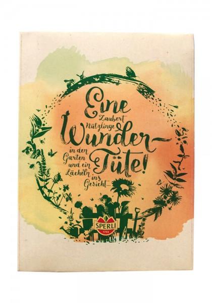 """Saatgut Spruchkarte """"Wundertüte"""" Nützlingswiese"""