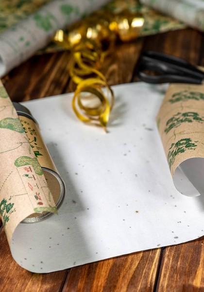 Geschenkpapier aus Saatpapier - Herzen
